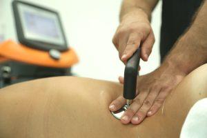 Aplicación de Indiba en paciente