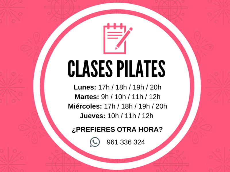 Horarios Pilates Clínica Ionclinics